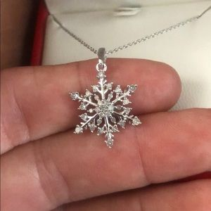 Jewelry - White Gold And Diamond Snowflake Necklace